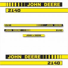 Комплект наклеек логотип эмблема Джон Дир John Deere 2140