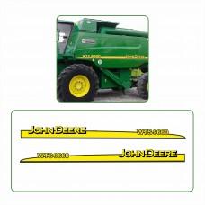 Комплект наклеек логотип эмблема Джон Дир John Deere WTS 9660