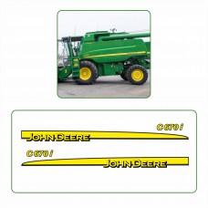 Комплект наклеек логотип эмблема Джон Дир John Deere С670i