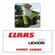 Комплект наклеек логотип эмблема CLAAS LEXION 760