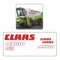 Комплект наклеек логотип эмблема CLAAS LEXION 460
