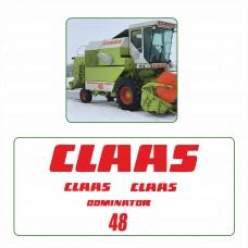 Комплект наклеек логотип эмблема CLAAS DOMINATOR 48