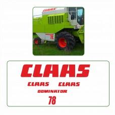 Комплект наклеек логотип эмблема CLAAS DOMINATOR 78