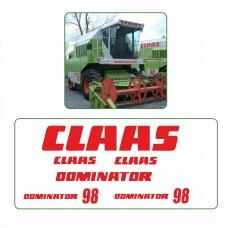 Комплект наклеек логотип эмблема CLAAS DOMINATOR 98