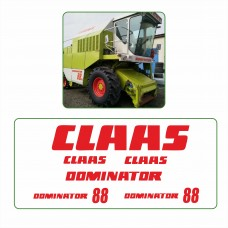 Комплект наклеек логотип эмблема CLAAS DOMINATOR 88