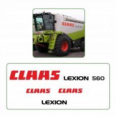 Комплект наклеек логотип эмблема CLAAS LEXION 560