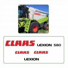 Комплект наклеек логотип эмблема CLAAS LEXION 580