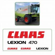 Комплект наклеек логотип эмблема CLAAS LEXION 470