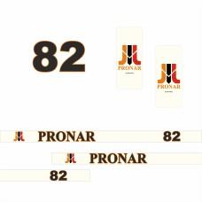 Комплект наклеек (эмблема) Пронар Pronar 82