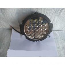 LED Фара робочая  круглая 63w чорная (Poland)