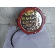 LED Фара робочая круглая 63w Червоная (Poland)
